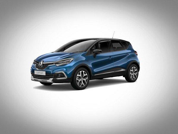 Renault Captur 2017 ocean blue with diamond black roof colour