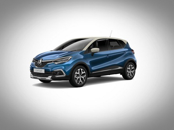 Renault Captur 2017 ocean blue with ivory roof colour