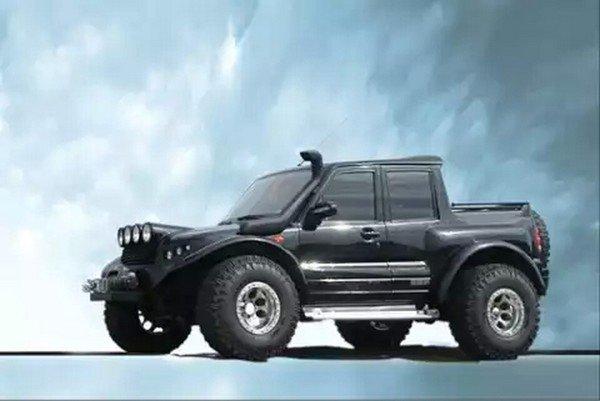 Mahindra Scorpio Hummer black side profile