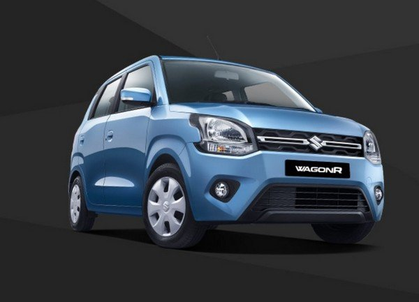 2019 maruti wagonR blue front angular look