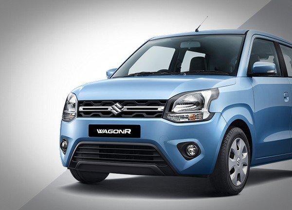 2019 maruti wagonr blue front view