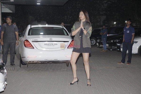 Sonakshi Sinha's Mercedes-Benz S-Class S350 white rear