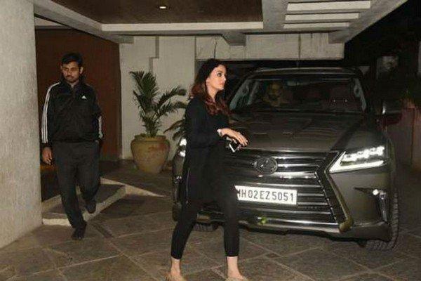 Aishwarya and Abhishek Bachchan's Lexus LX570 front dark silver