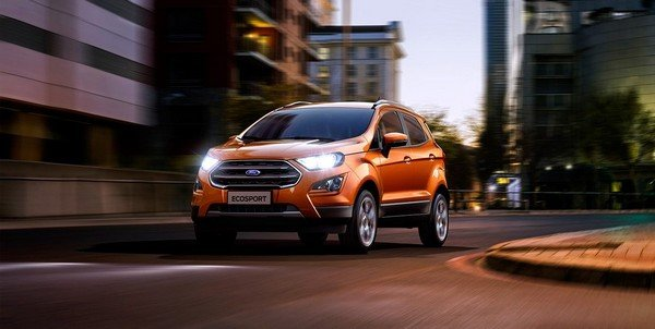 ford ecosport orange front view