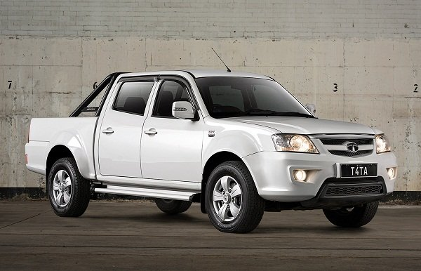 tata xenon white colour, side profile