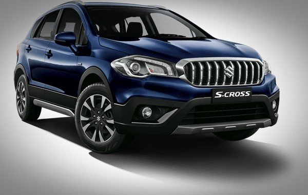 Maruti S-Cross blue color front angle look