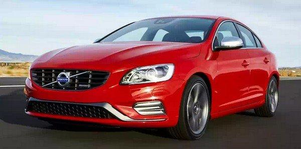 Volvo S60 red angular right
