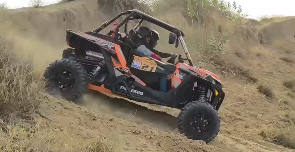 Polaris RZR dark orange side profile