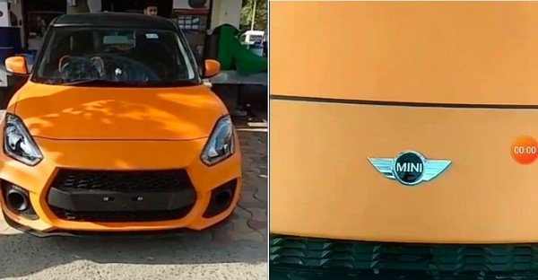 modified Maruti Suzuki Swift orange front