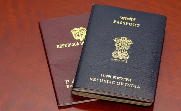 Indian passport brown colour