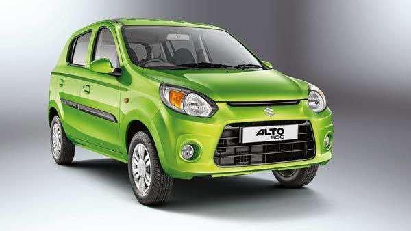 Maruti Alto 800 green angular left