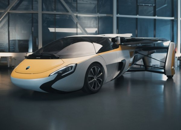 An Aeromobil spreads its wings