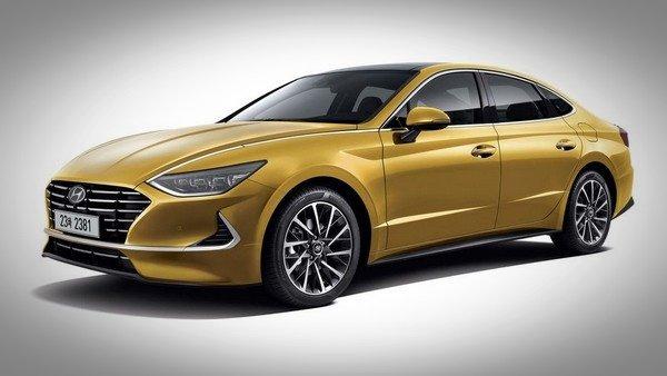 all-new Hyundai Sonata, yellow, side profle