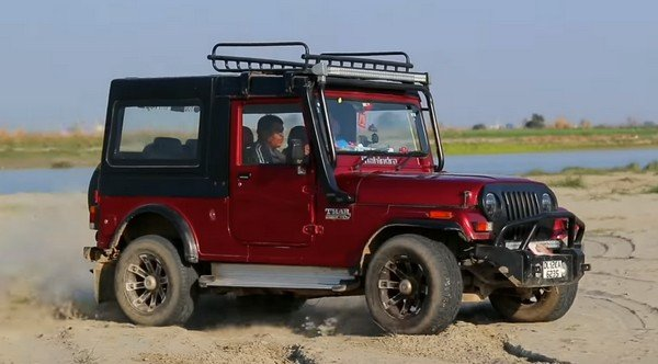 Mahindra Thar red side profile