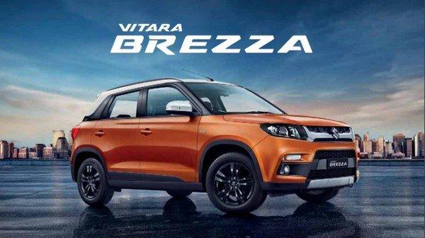 Maruti Suzuki Vitara Brezza with logo above