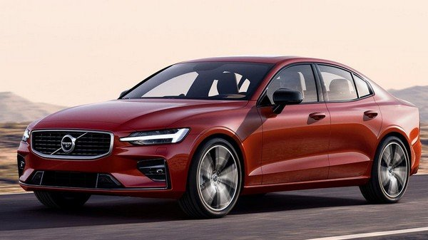Volvo S60 side look red color