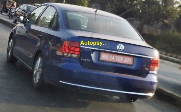 VW Vento Facelift, rear and side look