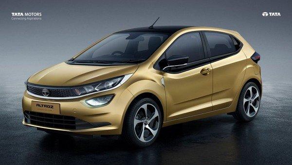 2019 Tata Altroz gold colour right angular