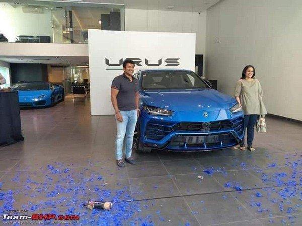 Lamborghini Urus between Puneeth Rajkumar and his wife