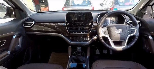 Tata Harrier interior with the special accessories package