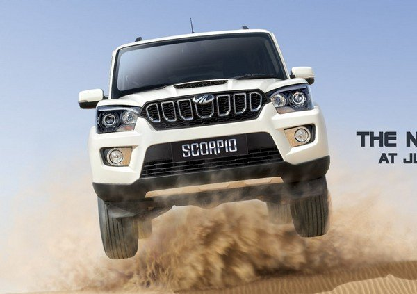 Mahindra Scorpion white color