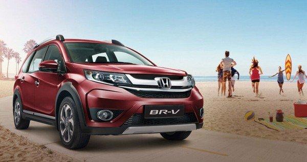 Honda BR-V front face red color