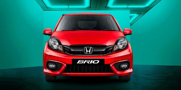 Honda Brio red color front look