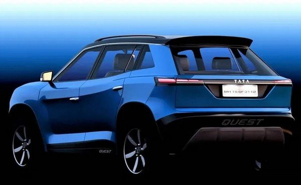 2020 Tata Blackbird blue rear
