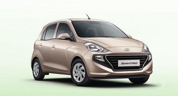 Hyundai Santro silver color front look