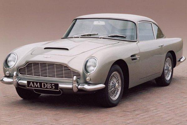 a luxurious Aston Martin DB5
