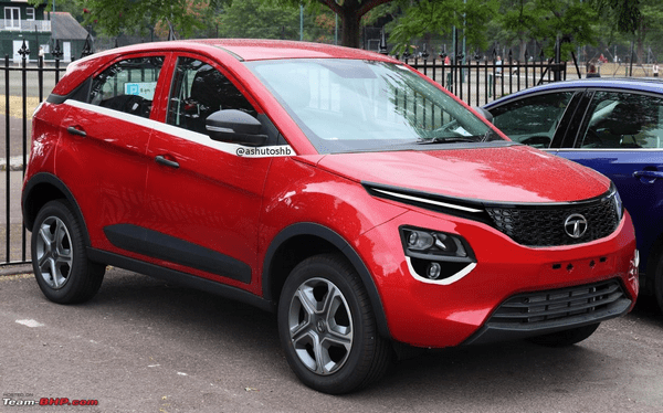 Second-gen Tata Nexon IMPACT 2.0 design language Team-BHP render red color