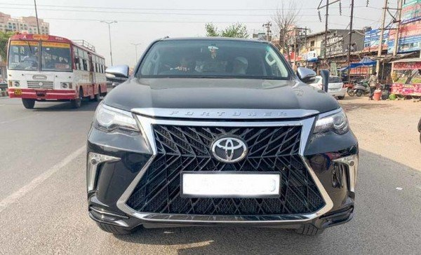 modified toyota fortuner black front angle