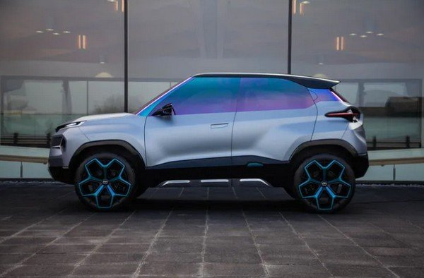2020 tata h2x ev silver side profile