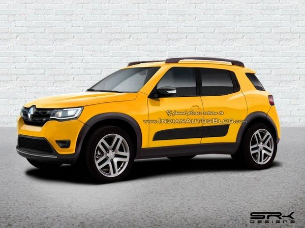 2020 renault hbc rendered yellow side profile angle