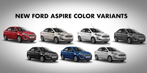 Ford Aspire 2018 Colour options