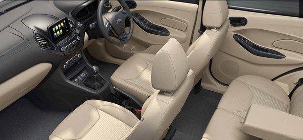 Ford Figo Aspire interior rear seats