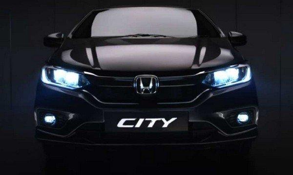 honda city facelift 2020 front look dark background