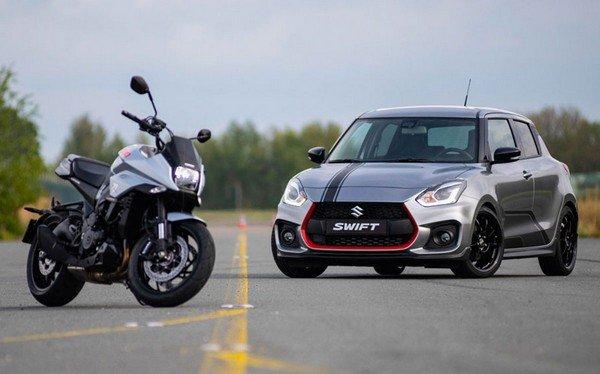 suzuki swift sport katana front look beside Katana motorcycle