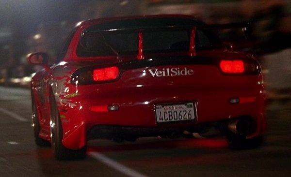 mazda rx7 red rear angle