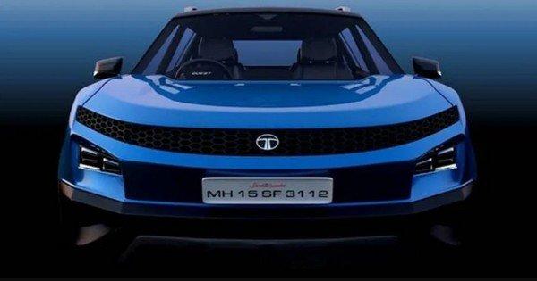 upcoming tata blackbird front blue colour