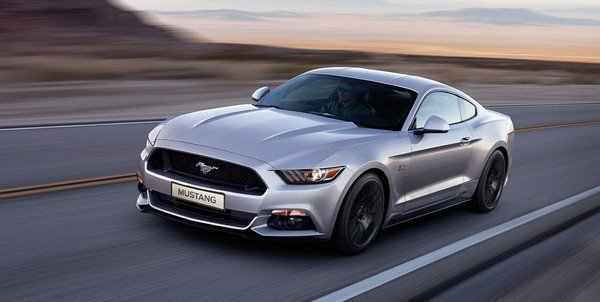 ford mustang silver front angle
