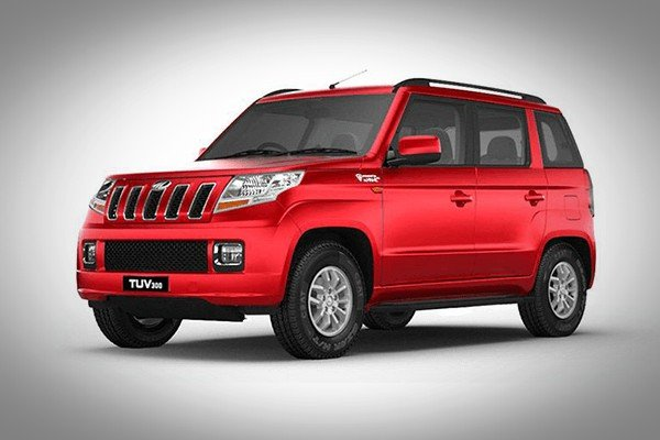 mahindra tuv300 red color side profile