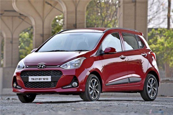 2017 hyundai grand i10 red front angular