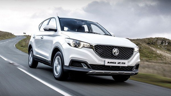 2018 chinese mg ezs white front angle