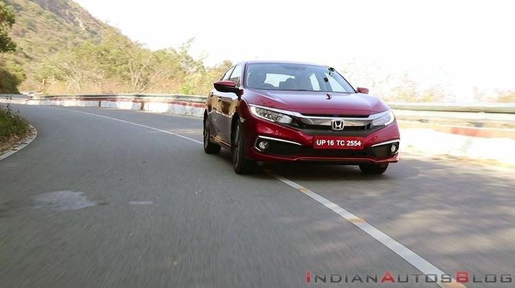 2019 Honda Civic read front angle
