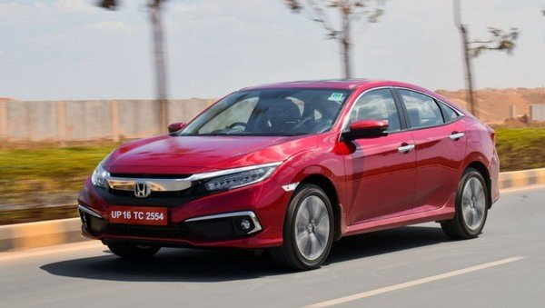 2019 honda civic red side profile