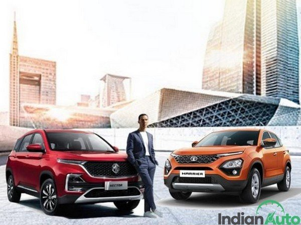 mg hector tata harrier front image