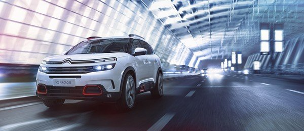 Citroen c5 aircross white front view