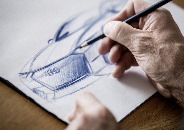 sketching audi car design