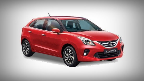 toyota glanza red front angle
